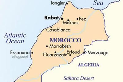 land kaart marokko